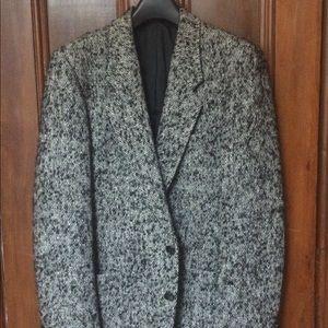 YSL tweed blazer.